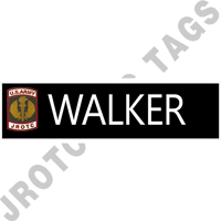Army JROTC Crest Engraved Nameplate