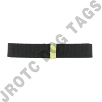 Female Belt Black W/Brass Tip