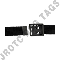 Black Belt W/ Open Face Black Buckle Xl Unisex
