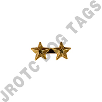 "3/16"" Gold 2 Star Ribbon Attachment"