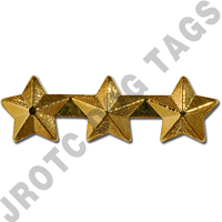 "3/16"" Gold 3 Star Ribbon Attachment"