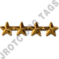 "3/16"" Gold 4 Star Ribbon Attachment"