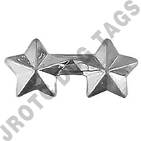 "3/16"" Silver 2 Star Ribbon Attachment"