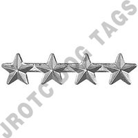 "3/16"" Silver 4 Star Ribbon Attachment"