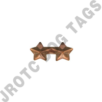 "3/16"" Bronze 2 Star Ribbon Attachment"