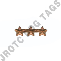 "3/16"" Bronze 3 Star Ribbon Attachment"