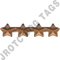 "3/16"" Bronze 4 Star Ribbon Attachment"