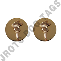 JROTC Collar Device Brass Enlisted Torch
