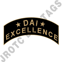 DAI Excellence JROTC Arc Pins ROTC Metal Tabs