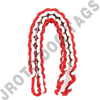 2 Color Shoulder Cord Red / White Button Loop