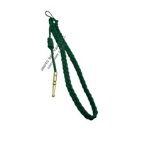 Kelly Green With Gold Tip Lanyard Fourragere Button Loop
