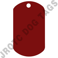 Embossable Red Dog Tags Blank Box of 100