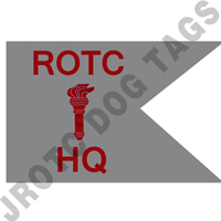 Guidon Flag ROTC With Torch And Hq