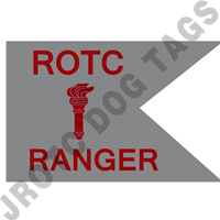 Guidon Flag ROTC With Torch And Ranger