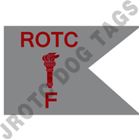 Guidon Flag ROTC With Torch And Letter F