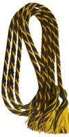 Black / Gold Intertwined Double Graduation Cord (Each)