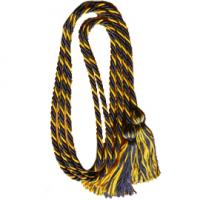 Navy Blue/Gold Intertwined Double Graduation Cord (Each)