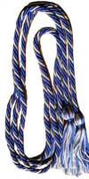 Royal Blue/Silver-Grey Intertwined Double Graduation Cord (Each)