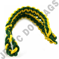 2 Color Shoulder Cord Green / Yellow Button Loop