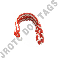 2 Color Shoulder Cord Orange / White With Pin Attachment (Takes 4 Weeks)