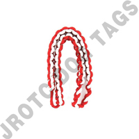 2 Color Shoulder Cord Red / White With Pin Attachment (Takes 4 Weeks)